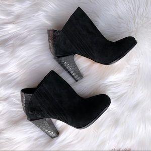 [LAMB] Black Suede Booties - Size 7